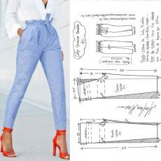 "sewing clothes patterns Tully Pant Sewing Pattern By Style Arc - slim leg elastic ""paper bag"" waist pant. This is a fabulous slim leg elastic paperbag pant by Style Arc. Sewing pattern for women in sizes 16 Tully Paperbag Pant – Sizes 20 – PDF sti Diy Clothing, Clothing Patterns, Dress Patterns, Shirt Patterns, Sewing Pants, Sewing Clothes, Barbie Clothes, Fashion Sewing, Diy Fashion"