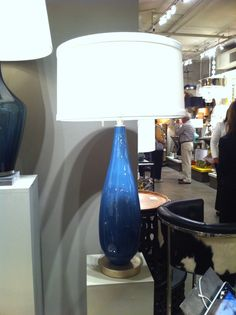 I love, love, love Mottega's new glass lamps.  The Verona base is so elegant, the scale is right, and the Laguna blue is on trend.   The glass is mouth-blown and you can see the subtle bubbles!   Arteriors Home (IHFC H320) #hpmkt  www.tracizeller.com