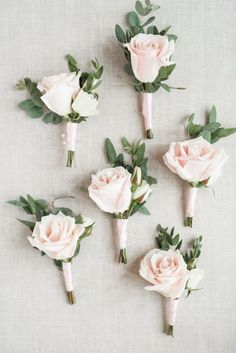 simple ash rose groom bountonniere #PinkWeddingIdeas