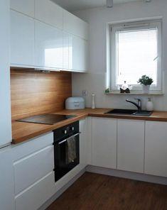 Kitchen Room Design, Kitchen Cabinet Design, Modern Kitchen Design, Home Decor Kitchen, Interior Design Kitchen, Kitchen Living, Home Kitchens, Cuisines Design, Apartment Kitchen