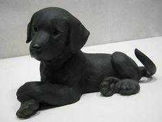 Lenox Black Labrador Retriever Puppy Porcelain Pet Animal Lover Figurine 1995