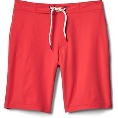 """Gap Men Solid Board Shorts 10"""" (58 CAD) ❤ liked on Polyvore featuring men's fashion, men's clothing, men's swimwear, gap mens clothing, mens board shorts swimwear, mens swimwear, men's apparel and mens clothing"""