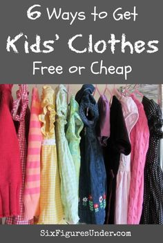Lots of great ideas and info for getting kids' clothes free or cheap!  These tips will save lots of money!