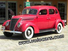 Volo Auto Museum:: 1937 Ford Model 78 Deluxe 4 Door Slantback Sedan - www.volocars.com