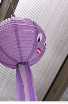 Bondville: Make: crafty octopus lantern decoration tutorial Purple Birthday, Mermaid Birthday, Mermaid Diy, Lanterns Decor, Diy Party, Party Ideas, Birthday Parties, 5th Birthday, Party Planning