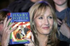 "Former English teacher JK Rowling holding her Harry Potter book - from ""How to Become a High School Teacher"""