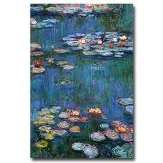 Claude Monet 'Waterlilies Classic' Canvas Art