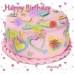 GIFs τούρτες γενεθλίων( GIFs birthday cakes) αποκλειστικά στο eikones.top - eikones top Happy Birthday Ballons, Birthday Wishes Girl, Happy Birthday Messages, Birthday Cake, Happy Wedding Anniversary Wishes, Desserts, Gifs, Food, Graphics
