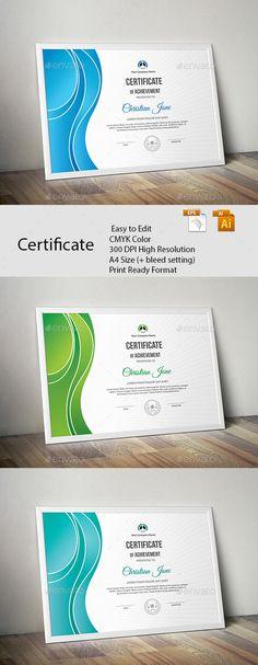 Creative Certificate Certificate design, Creative and Fonts - creative certificate designs