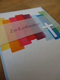 Jenny's Papierwelt: ~ Schlichte Konfirmationskarte ~