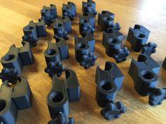 Production d'une petite série de pièces imprimées en 3d et enrichies en fibres de carbone pour Handi+
