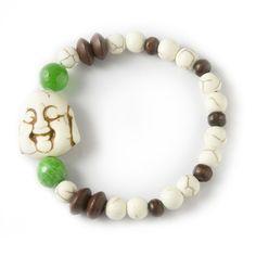Heart Chakra Buddha Bracelet - #Howlite #agate #buddha Gemstone Bracelets, Gemstone Jewelry, Crystals In The Home, Chakra Healing, Heart Chakra, Agate, Buddha, Beaded Necklace, Gemstones