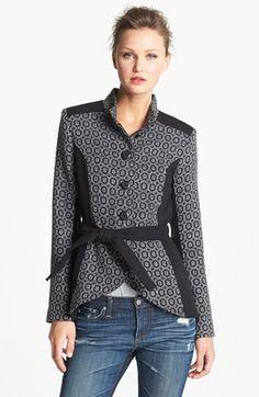 BB Dakota Belted Jacquard Jacket