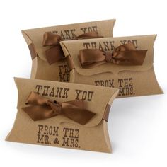 western wedding reception favors | Country Western Wedding Pillow Party Favor Boxes (Set of 25) (30639 ...