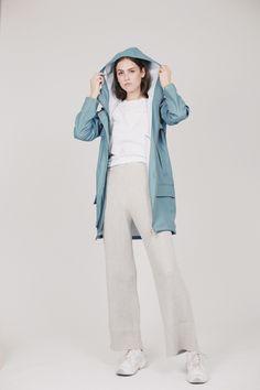 Hyades jacket - Bluestone by Fleischer Couture Duster Coat, Raincoat, Coats, Couture, Jackets, Fashion, Rain Gear, Down Jackets, Moda