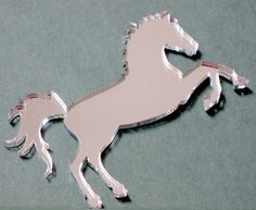 "Horse Acrylic Mirror 12"" tall/ Shatterproof/Den & Bedroom Decor 