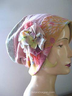 Hydrangea Mama Hat Flowers Vintage Fabrics by AllThingsPretty