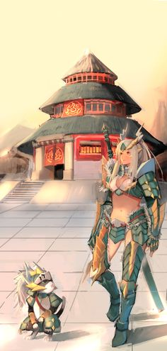 Zinogre Armor And Felyne