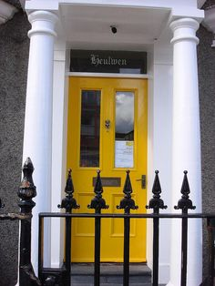 yellow front door via Flickr