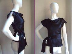 Single Brand Dress by Galina Sobolev Intermix So Hollywood Glam Silk Black Top 4 | eBay
