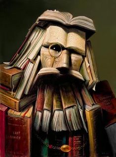 "Le professeur (""The Professor"") - oil on canvas by Andre Martins de Barros"