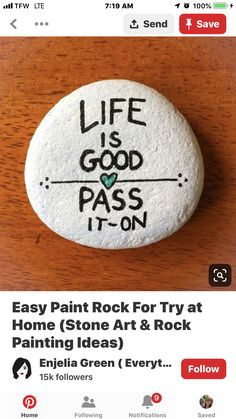 Painted Rocks Kids, Painted Stones, Stone Painting, Rock Painting, Lunch Notes, Bible School Crafts, Quick Crafts, Rock And Pebbles, Rock Decor