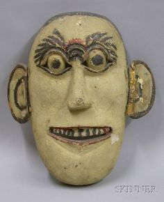 Anonymous Works: Vintage Mardi Gras Mask from Early 20th Century