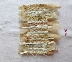woven story with tea bags by Ines Seidel, via Flickr
