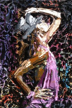 'Hips to the Hat' ---- painting by Kent Paulette (aka derfla ) 36 x 24 inches, oil on canvas