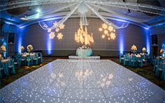 Do you dream of a winter wonderland? This Frozen inspired reception decor is for you!