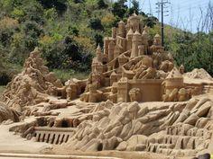 Escultura na areia