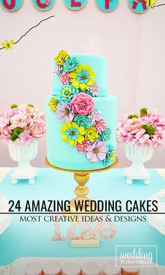 24 Most Amazing Wedding Cakes Pictures & Designs ❤ If you want guest to talk about the cake long after the wedding, take a look of gallery amazing wedding cakes pictures & designs. See more: http://www.weddingforward.com/wedding-cakes-pictures/ #weddings #cakes Photo: Baby Shower Ideas http://www.babyshowerideas4u.com/