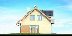 Elewacja prawa projektu Armanda Mała Malaga, Home Fashion, Outdoor Structures, Cabin, House Styles, Home Decor, Decoration Home, Room Decor, Cabins