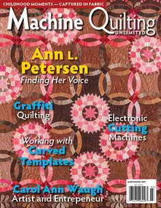 Web Extra! March/April 2015 – Stitching Stars with Curved Templates   Machine Quilting Unlimited
