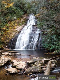 Helton Creek Falls: top kid-friendly waterfall hikes near Helen, Georgia Pine Mountain Georgia, Blue Ridge Georgia, Hiking Places, Hiking Trails, Helen Georgia, Helen Ga, Georgia Usa, Savannah Georgia, Waterfalls In Georgia