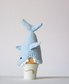 Crochet Shark Egg Cozy PDF Pattern Instant Download Crochet