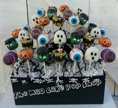 Halloween Cake Pops  36 Cake Pops WITH by TheMaDCakePopShop