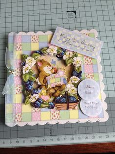 Patchwork Forest by Hunkydory - nice little card for my niece xx