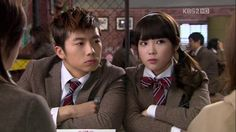 IU and 2pm's wooyoung. Dream High Series.