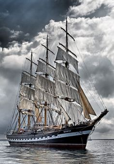 Not much for ships.. a sea sickness thing; however, this beauty is gorgeous! #sail #away #open #sea