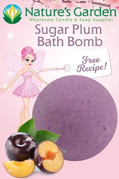 Free Sugar Plum Bath Bomb Recipe by Natures Garden