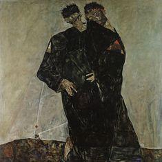 """Egon Schiele, """"Die Eremiten"""", 1912 © Leopold Museum, Wien, Inv. 466."""