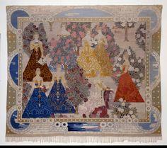 Frida Hansen, Norwegian İn the Rose Garden, tapestry, 1904 Textile Tapestry, Textile Fiber Art, Tapestry Weaving, Fibre Art, Religious Art, Textile Patterns, Art Google, Folk Art, Art Nouveau