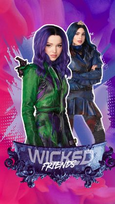 Disney Descendants 3 Mal and Evie best friends wallpaper The Descendants, Cameron Boyce Descendants, Disney Descendants Dolls, Descendants Characters, Deviantart Disney, Cheyenne Jackson, American Horror Story, Mal And Evie, Best Friend Wallpaper