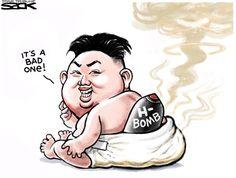 Baby Bomb, Steve Sack,The Minneapolis Star Tribune,Kim,Jong,Un,North Korea,bomb,H-bomb,nuclear,Korea