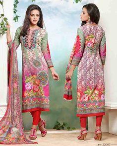 Multi   Colour Gracious Print Lawn Cotton Salwar Suits for women (UnStitched)       Fabric:   Lawn Cotton       Work:   Print       Type:   Salwar Suit       Color:   Multi Colour                 Fabric Top   Lawn Cotton       Fabric Bottom   Law