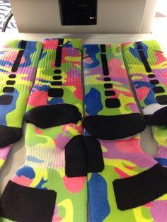"""Nike Elite Socks """"Neon Camo"""" · Sock Insanity · Online Store Powered by Storenvy Softball Socks, Basketball Shorts Girls, Basketball Socks, Basketball Cakes, Nike Elite Socks, Nike Socks, Comfy Socks, Fun Socks, Running Shoes On Sale"""