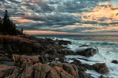 Sunset at Otter Point, Acadia National Park, Maine. © One Red Tree Photography