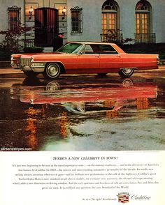 1965 Cadillac Sedan deVille - There\'s a new celebrity in town - Original Ad