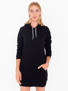 California Fleece Pullover Raglan Hoodie Dress
